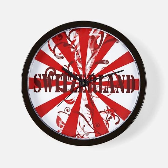 Switzerland vintage red Wall Clock