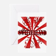 Switzerland vintage red Greeting Card