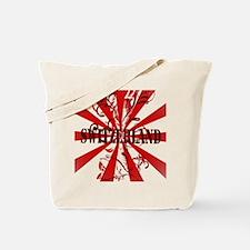 Switzerland vintage red Tote Bag