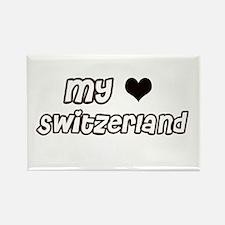 my heart Switzerland Rectangle Magnet