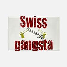 Swiss Gangsta Rectangle Magnet