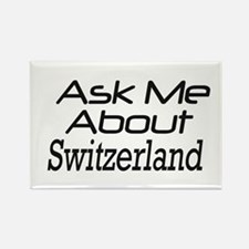ask Switzerland Rectangle Magnet