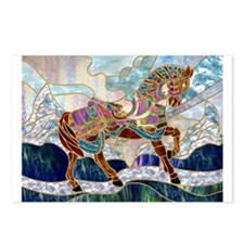 Armoured Carousel Horse Postcards (Package of 8)