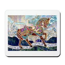 Armoured Carousel Horse Mousepad