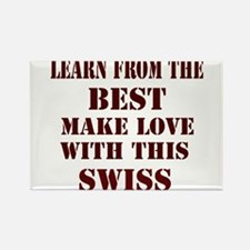 learn best from Switzerland Rectangle Magnet