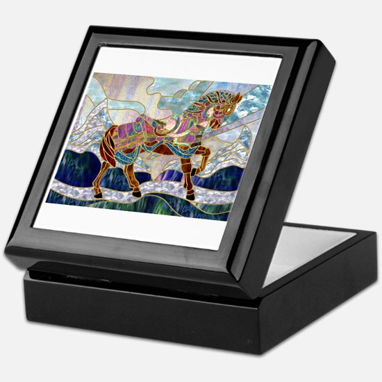 Armoured Carousel Horse Keepsake Box