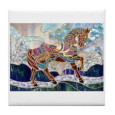 Armoured Carousel Horse Tile Coaster