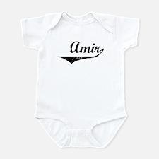 Amir Vintage (Black) Infant Bodysuit