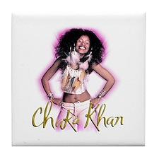 Chaka Khan Leather & Feathers Tile Coaster