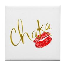 Chaka Gold Kiss Tile Coaster