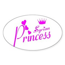 Syria princess Oval Decal