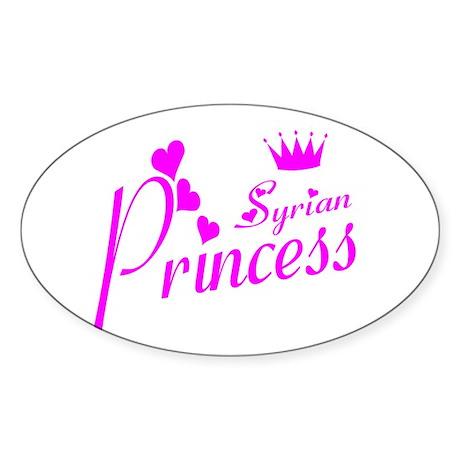 Syria princess Oval Sticker