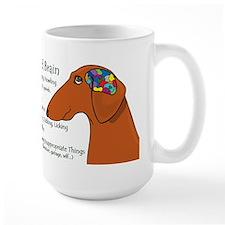 Weiner Brain (red) Coffee Mug