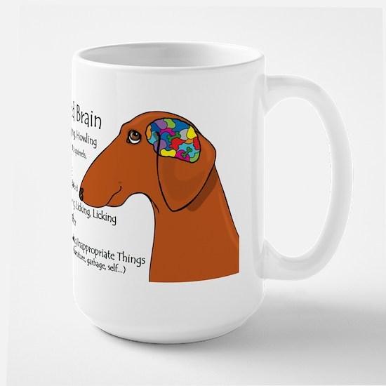 Weiner Brain (red) Large Mug