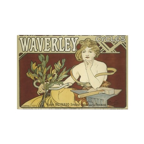 Vintage Waverley Cycles Ad Rectangle Magnet (10 pa