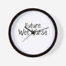 Future Wet Nurse Wall Clock