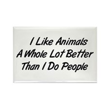 Animals Better Than People Rectangle Magnet