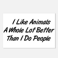 Animals Better Than People Postcards (Package of 8