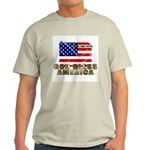 American Eagle Patriotic Ash Grey T-Shirt