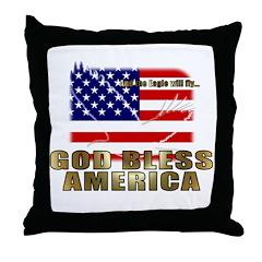 American Eagle Patriotic Throw Pillow