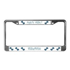 Peekapoo Agility Addict License Plate Frame