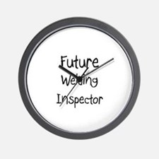 Future Welding Inspector Wall Clock