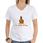 Bottle of Rum Women's V-Neck T-Shirt