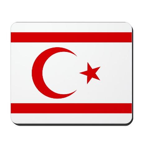 North Cyprus flag Mousepad