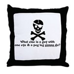 1 Eye Peg Leg Throw Pillow