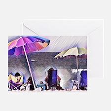 Unique Beach umbrella Greeting Card