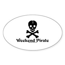 Weekend Pirate Oval Decal