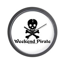 Weekend Pirate Wall Clock