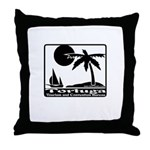 Tortuga Tourism Tran Throw Pillow