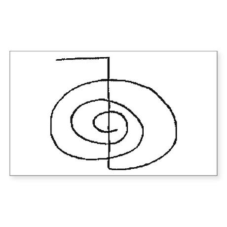 Cho-Ku-Rei (Mrs. Takata Hand Drawn) Sticker (Recta