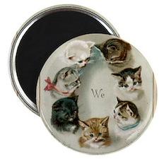 Cute Victorian kitten Magnet