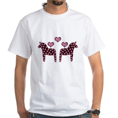 Swedish hearts White T-Shirt