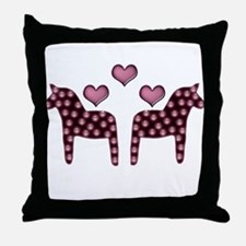 Swedish hearts Throw Pillow