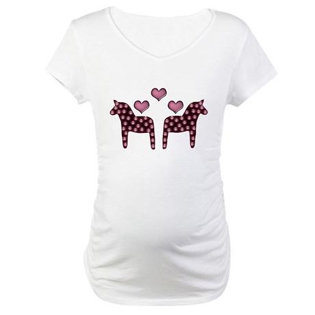 Swedish hearts Maternity T-Shirt