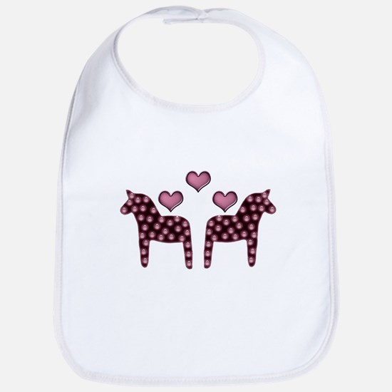 Swedish hearts Bib