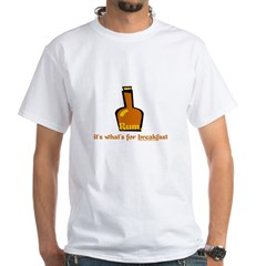 Rum For Breakfast White T-Shirt