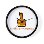 Rum For Breakfast Wall Clock