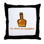 Rum For Breakfast Throw Pillow