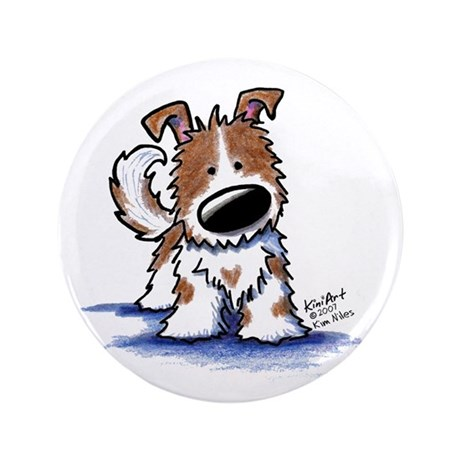 """TIPPY Terrier Mix 3.5"""" Button (100 pack)"""