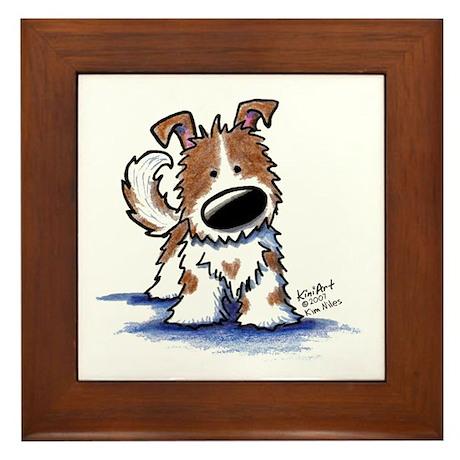 TIPPY Terrier Mix Framed Tile