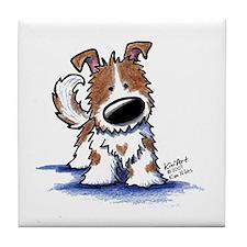 TIPPY Terrier Mix Tile Coaster