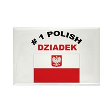 #1 Polish Dziadek Rectangle Magnet