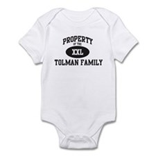 Property of Tolman Family Infant Bodysuit