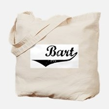 Bart Vintage (Black) Tote Bag