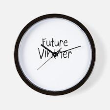 Future Vintner Wall Clock