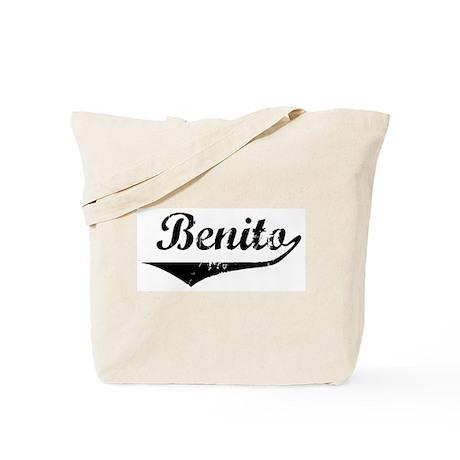 Benito Vintage (Black) Tote Bag